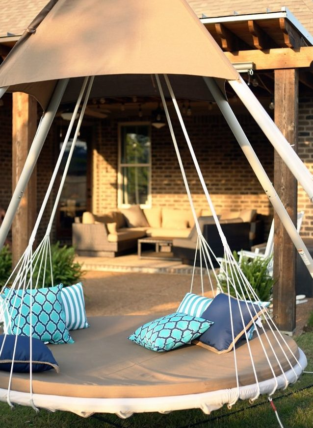Tipi style lounger bed