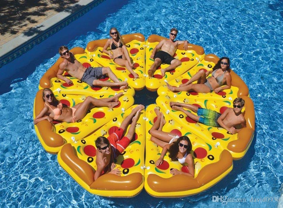 pizza pool party raft