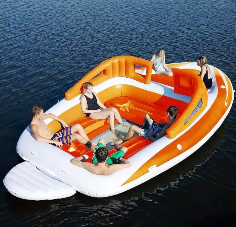 6-person inflatable party boat