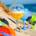 Beach Floating Wine Glass