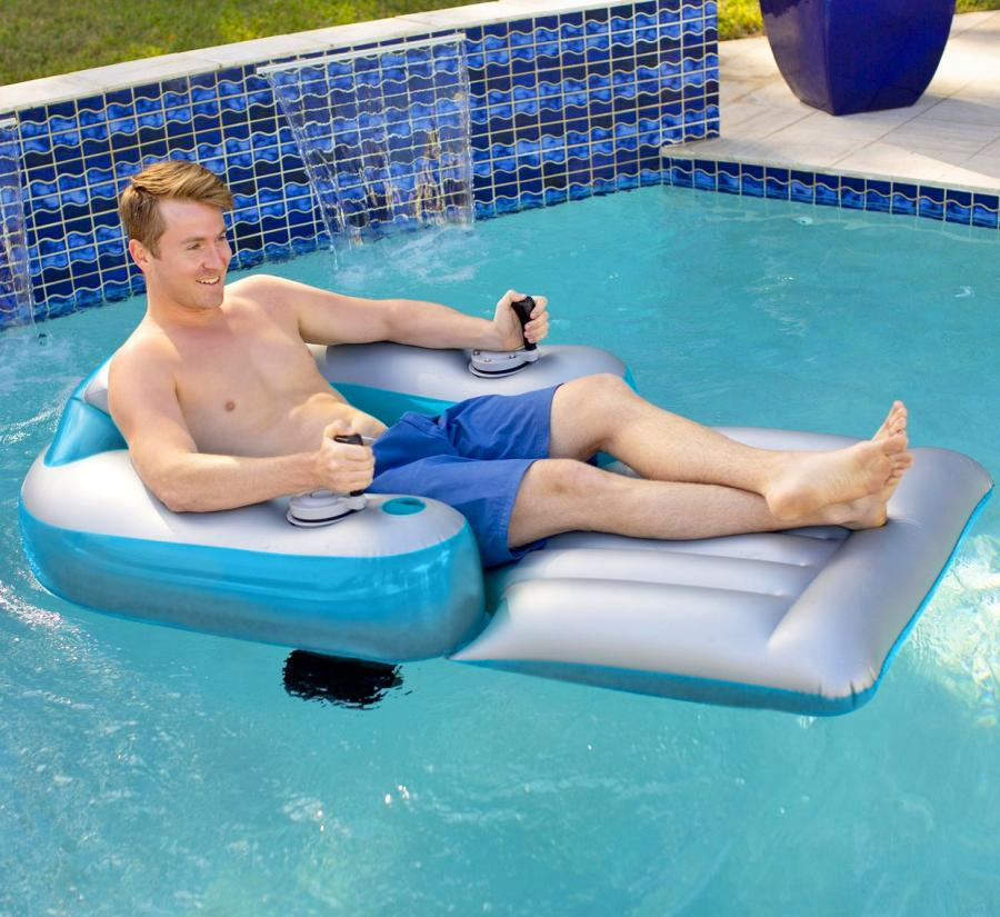 pool lounger with motors