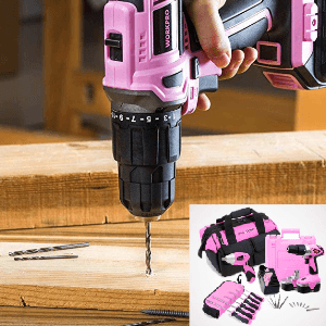 Pink Womens Drill Set