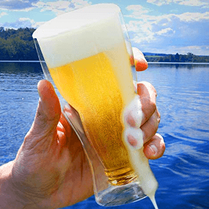 insulated beer glass