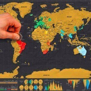 scratch the wold map