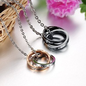 Double Ring Couple Necklace