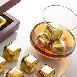 Gold Whiskey Stones