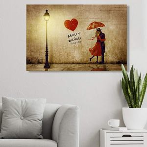 Romantic Personalized Canvas Print
