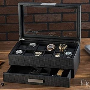 Watch Box with Valet Drawer