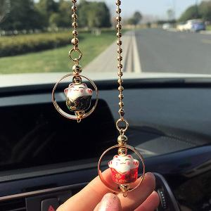 Lucky Cat Car Charm