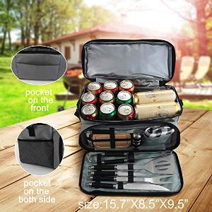 Grill Tools Set with Cooler Bag