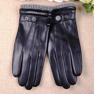 Warm Leather Driving Gloves
