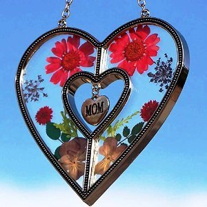 Mom Heart Suncatchers